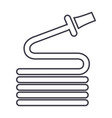 hose line icon sign on vector image vector image