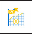 initial public offering concept vector image