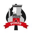 king of spades card poker ribbon symbol vector image vector image