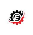 letter e gear logo design template vector image vector image