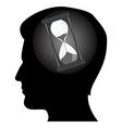 mans mind vector image