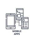 mobile apps line icon concept mobile apps vector image