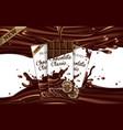 mockup advertising chocolate three chocolate bars vector image vector image