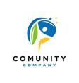 modern human community logo vector image