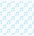 music notes seamless pattern vector image