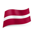 national flag of latvia narrow white stripe vector image vector image