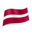 National flag of latvia narrow white stripe vector image