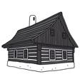 Old folk house vector image