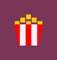 popcorn cinema icon vector image vector image