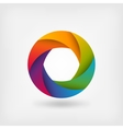 rainbow color circle logo template vector image vector image