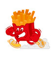 running french fries vector image vector image