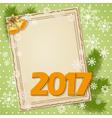 scrapbooking card 2017 vector image vector image