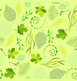 seamless nature pattern with stylized green leaves vector image vector image
