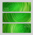 set of banners with bright circle background vector image vector image
