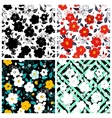 Set of seamless floral backgrounds Seamless vector image vector image