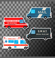 Set of service vans vector image