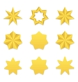 Seven poin stars collection vector image vector image