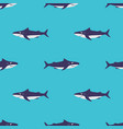 sharks seamless abstract pattern vector image vector image
