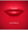Silence background vector image vector image