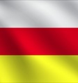 South Ossetia flag vector image vector image