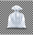 transparent polyethylene package vector image vector image