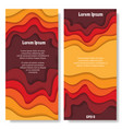 two paper cut placards vector image vector image