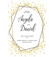 wedding gold dot 1 vector image