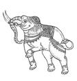 White elephanttraditional thai art vector image vector image