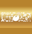 year rat new years greeting card template vector image