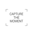 capture the moment vector image