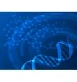 DNA medical background vector image
