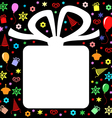 gift back color vector image
