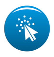 cursor digital icon blue vector image