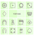 14 fortune icons vector image vector image