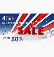 4th july independence day usa sale vector image vector image