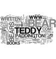 a teddy bears life text word cloud concept vector image vector image