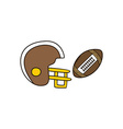 american football cartoon icon theme vector image
