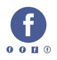astana kazakhstan -10 july 2020 facebook icon vector image vector image