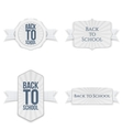 Back to School festive Labels Set vector image
