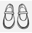 ballet shoes sketch vector image vector image