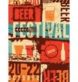 Beer Festival vintage style grunge poster vector image vector image