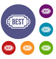 best label icons set vector image vector image