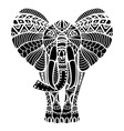 Black Abstract Elephant Drawing vector image vector image
