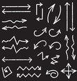 black set of 26 hand drawn arrows vector image