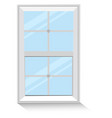 blank window on a white background vector image vector image