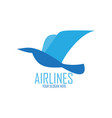 blue bird for airlines logo vector image vector image