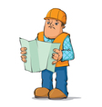 builder reading plan vector image