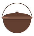 camping pot icon flat style vector image