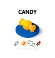 Candy icon in different style vector image vector image