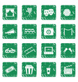 cinema icons set grunge vector image vector image